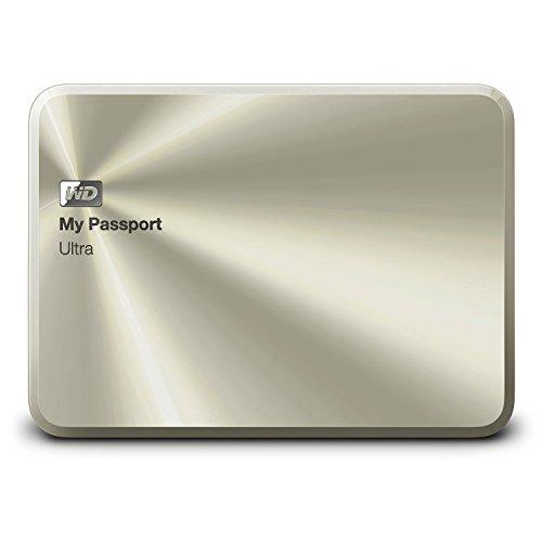 WD ポータブルHDD My Passport Ultra Anniversary Edition 2TB 3年保証 USB 3.0 アルミ筐体 暗号化 パスワード保護 シャンパンゴールド WDBEZW0020BCG-PESN