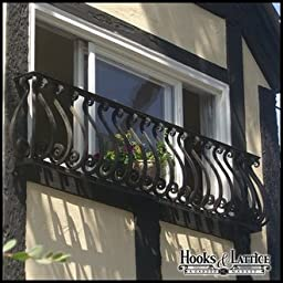 Sevilla Iron Faux Balcony 54in. Length by 24in. Height