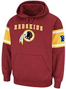 Washington Redskins Mens Passing Game IV Fleece Hoodie Sweatshirt by Majestic by VF