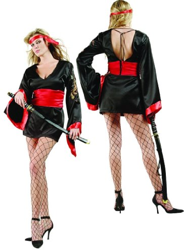 Adult Sexy Naughty Ninja Costume Size Large (8-10)