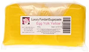 Cupcake World Fondant Sugarpaste Cake Icing Egg Yolk Yellow 1 Kg