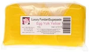 Cupcake World Fondant Sugarpaste Cake Icing Egg Yolk Yellow 1 Kg