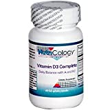 Nutricology/ Allergy Research Group Vitamin D3 Complete Daily Balance with A and K2, 60 Caps
