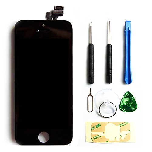 OEM LCD Touch Screen Digitizer Frame Assembly Full Set LCD Touch Screen Replacement for iPhone 5 5G Black