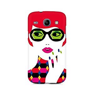 Ebby Girl With Glasses Premium Printed Case For Samsung Core I8262