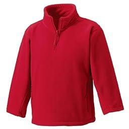 Jerzees Schoolgear Kid\'s 1/4 Zip Outdoor Fleece Classic Red 7-8 Yrs