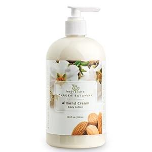 Garden Botanika Almond Cream Body Lotion, White, Almond, 16.9 Fluid Ounce
