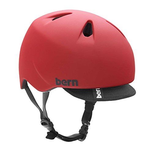 bern (バーン)ヘルメット [ NINO Matte Red サイズS-M]オールシーズン・キッズタイプ (2014/15モデル)日本正規品