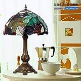 Tiffany Tischlampe mit 1 Leuchten in Tulpe-Muster - galvanisieren Fertig DA- 12004
