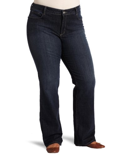 NYDJ Women's Plus-Size Marilyn Straight Leg Jean, Oak Meadow, 20