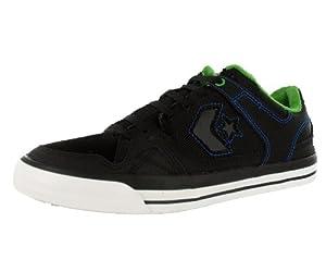 Converse Men's Coolidge Ox Skate Shoe Black, Green, Royal (11)