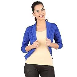 Belonas Women's Royal Blue Shrug