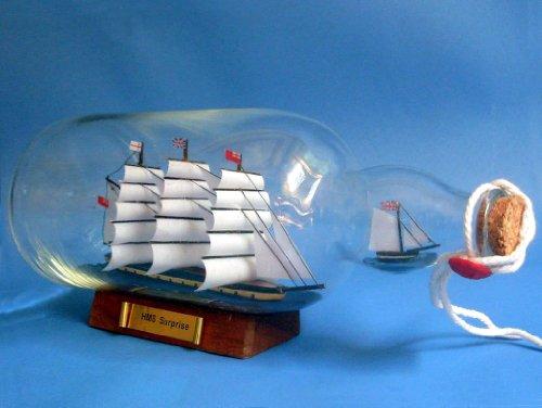 HMS Surprise Ship in a Bottle 11 - Ships In A Bottle - Model Ship Wood Replica - Not a Model Kit