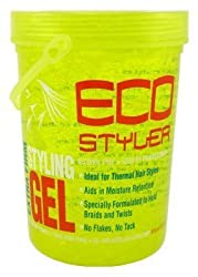 Eco Styler Styling Gel 5 Lb. Yellow Jar (3-Pack) with Free Nail File