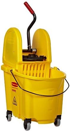 Rubbermaid Commercial 7577-88 WaveBrake 35-Quart Bucket/Wringer Combo, Yellow
