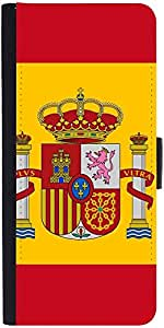 Snoogg Spain Flag 2980 designer Protective Phone Flip Case Cover For Lg Nexus 5X