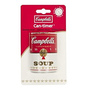 Campbell's Soup Can 60-minute Kitchen Cooking Timer - 3.25 inches