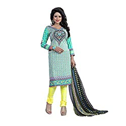 Shree Hari Creation Women's Poly Cotton Unstitched Dress Material (242_Multi-Coloured_Free Size)