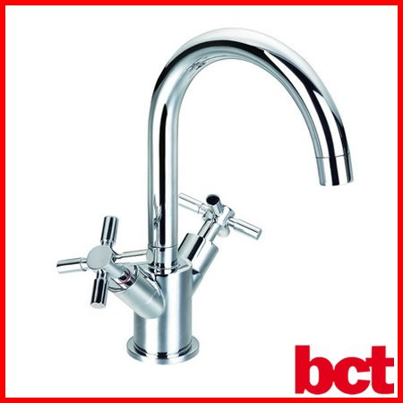 Bathroom Classic Chrome Basin Sink Mixer Tap with Pop up Waste FH8217C-617
