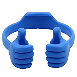 Honsky®- NEWLY RELEASE - Universal Flexible Thumb Smartphone Stand Holder,Tablet Mount Holder, for Apple iPad Mini Amazon Kindle iPhone 6 6 plus 5s 5S 5C 5 Samsung Galalxy S3 S4 S5 NOTE 2 NOTE 3 NOTE 4,Universal Mount Fits Most HTC Sony Motorola Blackberry Q Series - - Blue Color - 2014 NEWLY INNOVATION