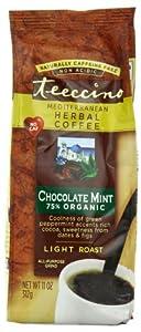 Teeccino Herbal Coffee Alternative, Mediterranean Chocolate Mint, 11oz (pack of 3)