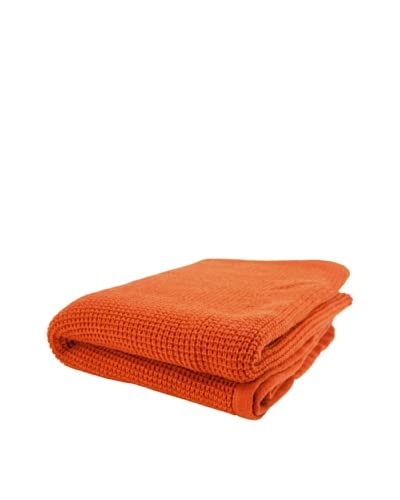 pür cashmere Thermal Knit Throw  - Persimmon
