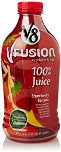 V8 V-Fusion Strawberry Banana Juice, 46 Fl Oz