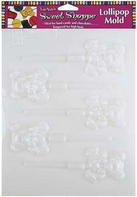 Sweet Shoppe Candy Molds-Teddy Bear Lollipop 5 Cavity