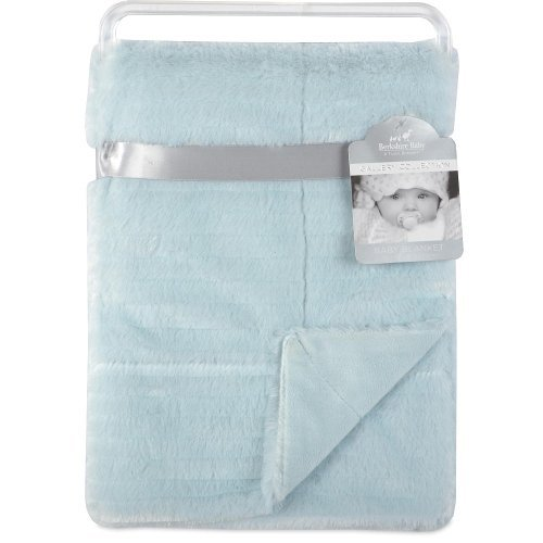 Berkshire Baby Tiered Fur Baby Blanket-Blue Machine Wash Cold, Gentle Cycle, Separately. Use Only Non-Chlorine Bleach As Needed. Tumble Dry No Heat. Air Or Line Dry. Do Not Iron.