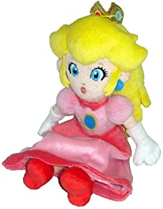 "Super Mario Plush - 8"" Princess Peach Soft Stuffed Plush Toy Japanese Import from Japan VideoGames"