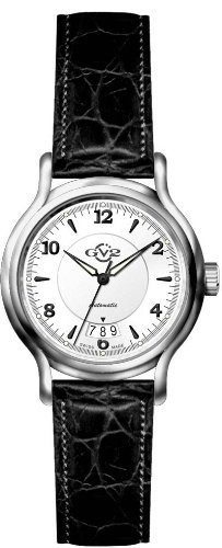GV2 BY GEVRIL CLASSICO SWISS AUTOMATIC WATCH SILVER DIAL LEATHER BAND 4112L
