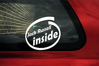 Jack Russell inside sticker - dog on board car sign