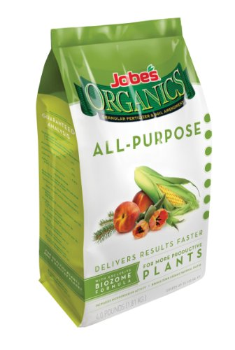Jobes 09526 Organic All Purpose Granular Fertilizer 4-Pound Bag