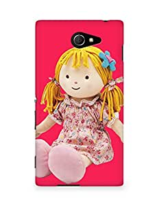 Amez designer printed 3d premium high quality back case cover for Sony Xperia M2 D2302 (Beautiful Little Warmheart Candy oll)