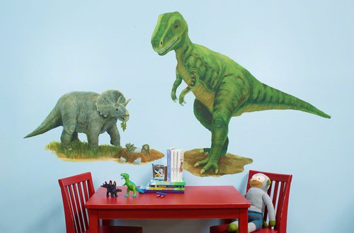 Oopsy Daisy 54 by 30-Inch Peel and Place Prehistoric Pals Medium by Jill Bachman Pabich, Medium