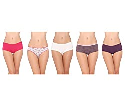 Pepperika Cotton Lycra Panties (Pack of 5)