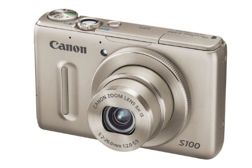 Canon PowerShot S100 Digital Camera - Silver (12.1MP, Ultra Wide Angle, 5x Zoom) 3.0 inch LCD