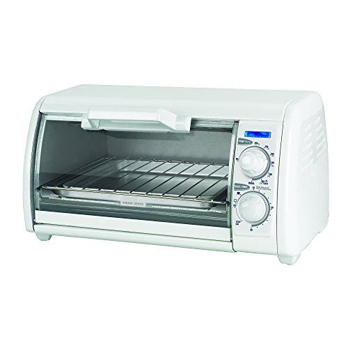 BLACK+DECKER TRO420 4-Slice Toaster Oven, Includes Bake Pan, Broil Rack & Toasting Rack, White Toaster Oven (Toast R Oven Broiler compare prices)