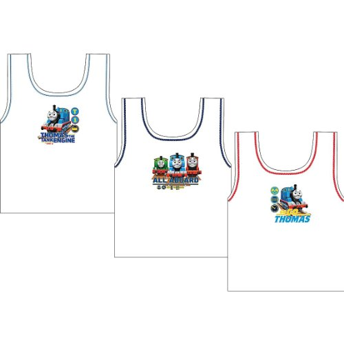 Childrens/Kids Thomas The Tank Engine Underwear Sleeveless Vest Set 100% Cotton (Pack of 3)