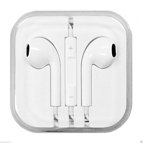 New Brand White Earphone In-Ear Headphone With Microphone & Volume Control For I Phone I Pad I Pod High Quality 3.5 Mm Plug For Mp3 Player