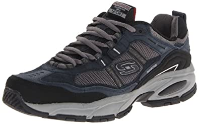 Skechers Men's Vigor 2.0 Oxford,Navy/Gray,14 M US