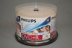 PHILIPS DVD+R 8.5G INKJET DAUL, LAYER,CAKE BOX, 50PKS, 600/CRN A2