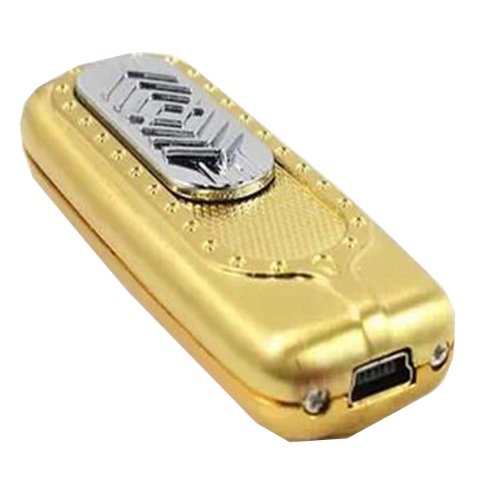 Coolestore Usb Charging Lighter Windproof Lighter Environmentally Friendly Lighter Gold And Silver Color Creative Boutique Lighter 02 (Gold)