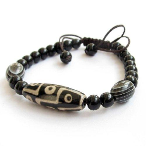 Tibetan Buddhist Dzi Beads Bracelet