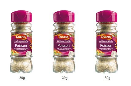DUCROS - Melanges - Melange en flacons - Melange malin Poisson - 39 g - lot de 3