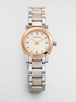 Burberry BU9214 Watch Heritage Ladies - Grey Dial Stainless Steel Case Quartz Movement
