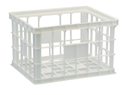 United Solutions-Organize Your Home Cr0017 White Plastic Standard Storage And Organizing Crate - Plastic Stackable Storage Box In White