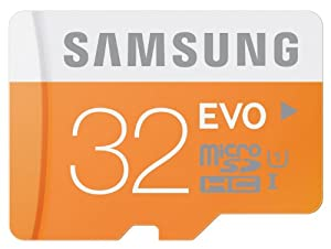 Samsung Memory 32 GB Evo MicroSDHC UHS-I Grade 1 Class 10 Memory Card without Adapter