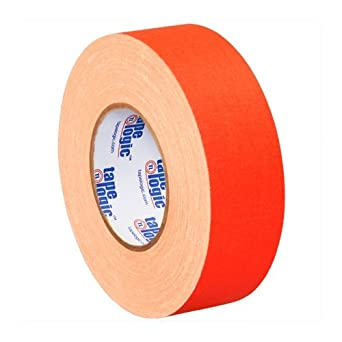 """Tape Logic T9874FOR Gaffers Tape, 11 mil Thick, 50 yds Length x 2"""" Width, Fluorescent orange (Case of 24)"""