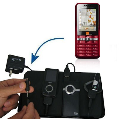 Gomadic Advanced Sony Ericsson G502 4-port Charging Station - Uses TipExchange Technology to charge up to four devices simultaneously
